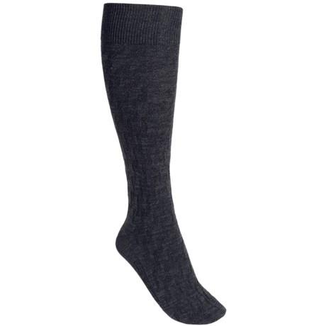 Icebreaker City Ultralite Kelple Socks - Merino Wool, Over-the-Calf (For Women) in Jet Heather