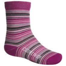 Icebreaker City Ultralite Socks - Merino Wool, Crew (For Kids and Youth) in Cranberry - 2nds