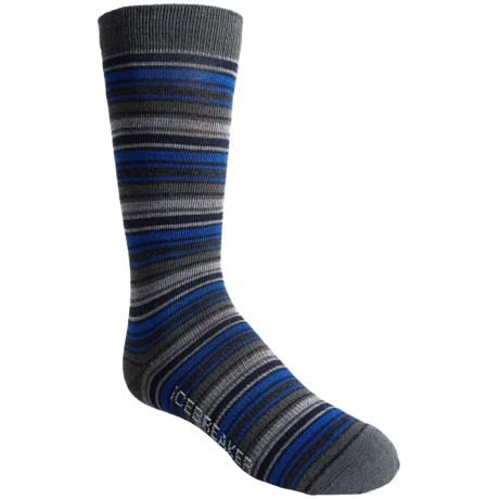 Icebreaker City Ultralite Socks - Merino Wool, Crew (For Kids and Youth) in Oil