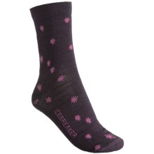 Icebreaker City Ultralite Starry Night Socks - Merino Wool, 3/4 Crew (For Women) in Bordeaux/Cherub - 2nds