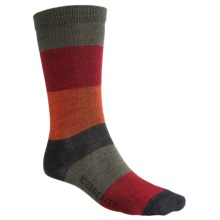 Icebreaker City Ultralite Stripey Crew Socks - Merino Wool (For Men) in Cargo/Mars/Cajun/Jet - 2nds