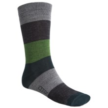 Icebreaker City Ultralite Stripey Crew Socks - Merino Wool (For Men) in Metro/Jet/Grass/Nova - 2nds