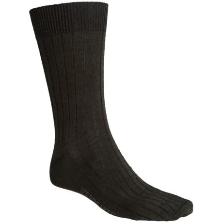 Icebreaker City Ultralite Trojan Crew Socks - Merino Wool (For Men and Women) in Ivy