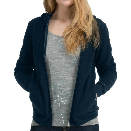 Icebreaker City260 Lily Sweatshirt - Merino Wool, Full Zip (For Women) in Black