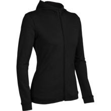 Icebreaker City260 Villa Shirt - Hooded, Long Sleeve (For Women) in Black - Closeouts