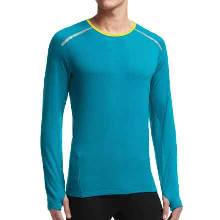 Icebreaker Comet Shirt - Merino Wool, Long Sleeve (For Men) in Alpine/Chartreuse - Closeouts