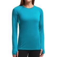 Icebreaker Comet Shirt - UPF 40+, Merino Wool, Long Sleeve (For Women) in Alpine/Aquamarine - Closeouts