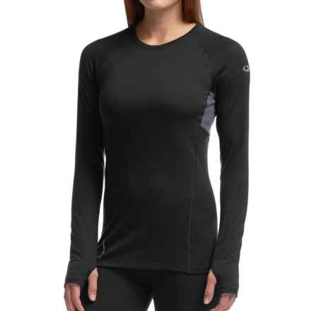Icebreaker Comet Shirt - UPF 40+, Merino Wool, Long Sleeve (For Women) in Black/Panther - Closeouts