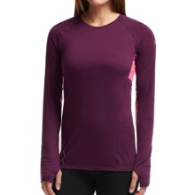 Icebreaker Comet Shirt - UPF 40+, Merino Wool, Long Sleeve (For Women) in Maroon/Shocking - Closeouts