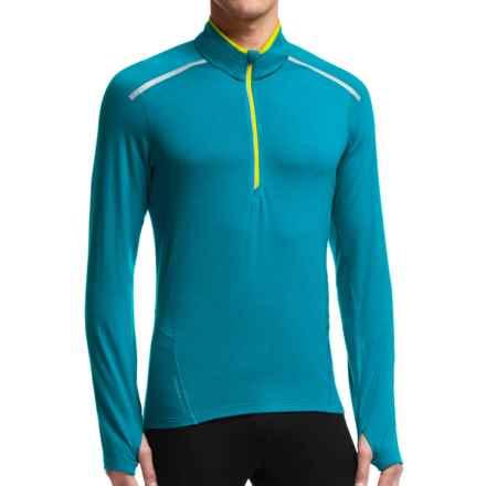 Icebreaker Comet Shirt - Zip Neck, Merino Wool, Long Sleeve (For Men) in Alpine/Chartreuse/Chartreuse - Closeouts