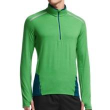 Icebreaker Comet Shirt - Zip Neck, Merino Wool, Long Sleeve (For Men) in Balsam/Night/Night - Closeouts