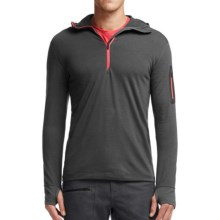 Icebreaker Compass Hoodie - Merino Wool, Zip Neck, Long Sleeve (For Men) in Monsoon/Clay - Closeouts