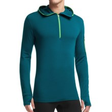 Icebreaker Compass Hoodie - Merino Wool, Zip Neck, Long Sleeve (For Men) in Night/Balsam - Closeouts