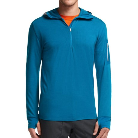 Icebreaker Compass Hoodie Merino Wool, Zip Neck, Long Sleeve (For Men)