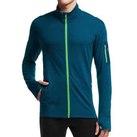 Icebreaker Compass Midlayer Full-Zip Shirt - UPF 20+, Merino Wool Blend, Long Sleeve (For Men) in Night/Balsam - Closeouts
