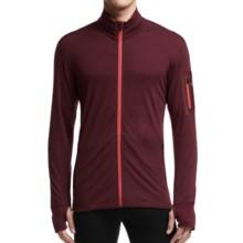 Icebreaker Compass Midlayer Full-Zip Shirt - UPF 20+, Merino Wool Blend, Long Sleeve (For Men) in Redwood/Clay - Closeouts
