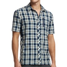 Icebreaker Compass Plaid II Shirt - Merino Wool, UPF 30+, Short Sleeve (For Men) in Admiral - Closeouts