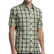 Icebreaker Compass Plaid II Shirt - Merino Wool, UPF 30+, Short Sleeve (For Men) in Cedar - Closeouts