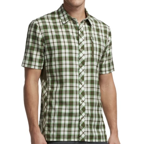 Icebreaker Compass Plaid II Shirt Merino Wool, UPF 30+, Short Sleeve (For Men)