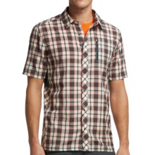 Icebreaker Compass Plaid II Shirt - Merino Wool, UPF 30+, Short Sleeve (For Men) in Monsoon - Closeouts
