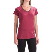 Icebreaker Cool-Lite Spark Shirt - UPF 30+, Merino Wool, Short Sleeve (For Women) in Aquamarine/Force/Shocking - Closeouts