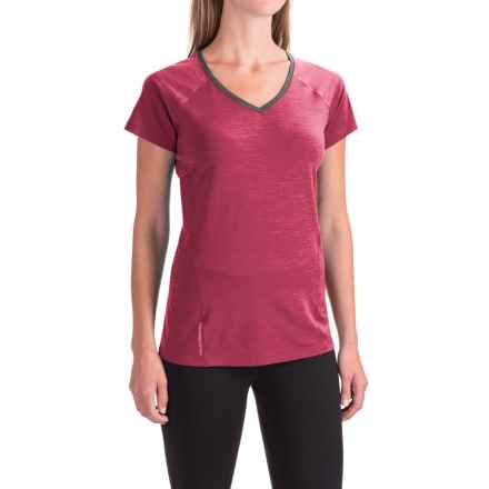 Icebreaker Cool-Lite Spark Shirt - UPF 30+, Merino Wool, Short Sleeve (For Women) in Aquamarine/Force/Shocking - Closeouts
