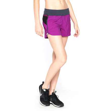 Icebreaker Cool-Lite Spark Shorts - UPF 30+, Stretch Merino Wool Built-In Briefs (For Women) in Vivid/Panther - Closeouts