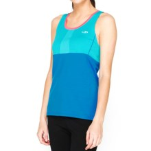 Icebreaker Cool-Lite Spark Tank Top - UPF 30+, Merino Wool (For Women) in Aquamarine/Force/Shocking - Closeouts