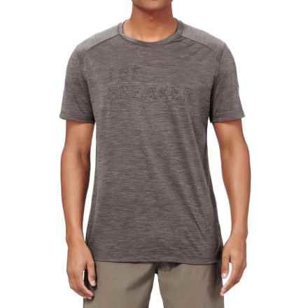 Icebreaker Cool-Lite Sphere Fracture T-Shirt - Merino Wool, Short Sleeve (For Men) in Trail Heather - Closeouts