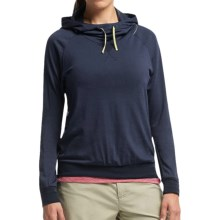 Icebreaker Cool-Lite Sphere Hooded Shirt - UPF 30+, Merino Wool, Long Sleeve (For Women) in Admiral Heather - Closeouts