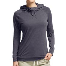 Icebreaker Cool-Lite Sphere Hooded Shirt - UPF 30+, Merino Wool, Long Sleeve (For Women) in Panther Heather - Closeouts