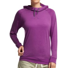 Icebreaker Cool-Lite Sphere Hooded Shirt - UPF 30+, Merino Wool, Long Sleeve (For Women) in Vivid Heather - Closeouts
