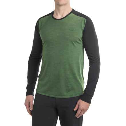 Icebreaker Cool-Lite Sphere Shirt - UPF 30+, Merino Wool, Long Sleeve (For Men) in Conifer Heather/Black Heather - Closeouts