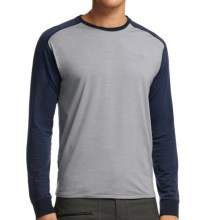 Icebreaker Cool-Lite Sphere Shirt - UPF 30+, Merino Wool, Long Sleeve (For Men) in Mineral Heather/Admiral Heather - Closeouts
