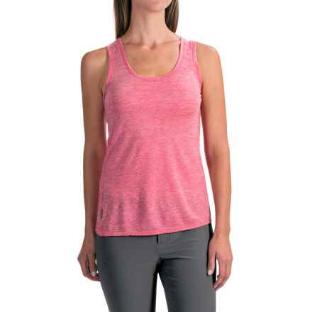Icebreaker Cool-Lite Sphere Stripe Tank Top - UPF 30+, Merino Wool (For Women) in Cherub/Snow - Closeouts