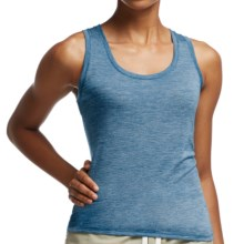 Icebreaker Cool-Lite Sphere Stripe Tank Top - UPF 30+, Merino Wool (For Women) in Isle/Snow - Closeouts