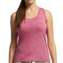 Icebreaker Cool-Lite Sphere Stripe Tank Top - UPF 30+, Merino Wool (For Women) in Raspberry/Snow - Closeouts