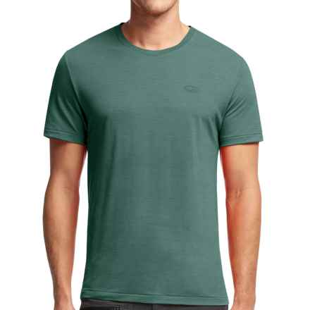 Icebreaker Cool-Lite Sphere T-Shirt - UPF 30+, Merino Wool, Short Sleeve (For Men) in Canoe Heather - Closeouts