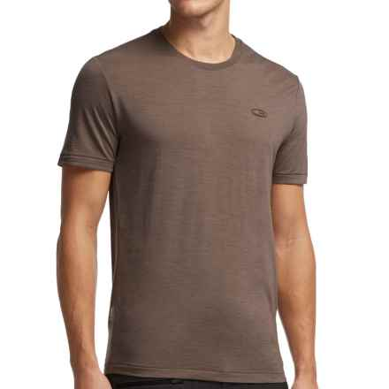 Icebreaker Cool-Lite Sphere T-Shirt - UPF 30+, Merino Wool, Short Sleeve (For Men) in Trail Heather - Closeouts