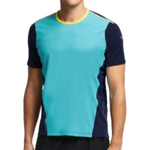 Icebreaker Cool-Lite Strike Shirt - UPF 30+, Merino Wool, Short Sleeve (For Men) in Aquamarine/Admiral/Fuse - Closeouts