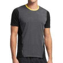 Icebreaker Cool-Lite Strike Shirt - UPF 30+, Merino Wool, Short Sleeve (For Men) in Monsoon/Black/Fuse - Closeouts