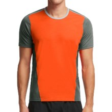 Icebreaker Cool-Lite Strike Shirt - UPF 30+, Merino Wool, Short Sleeve (For Men) in Spark/Metal/Lunar - Closeouts