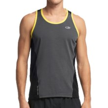 Icebreaker Cool-Lite Strike Shirt - UPF 30+, Merino Wool, Sleeveless (For Men) in Monsoon/Black/Fuse - Closeouts