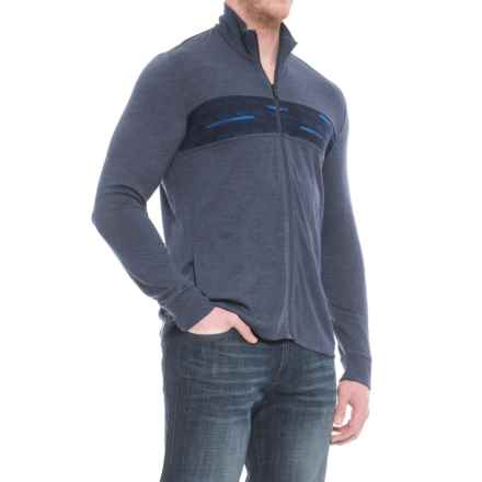 Icebreaker Cornice Cardigan Sweater - Merino Wool, Full Zip (For Men) in Fathom Heather/Midnight Navy - Closeouts