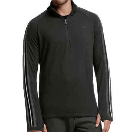 Icebreaker Coronet Sweater - Merino Wool, UPF 20+, Zip Neck (For Men) in Black/Jet Heather/Jet Heather - Closeouts