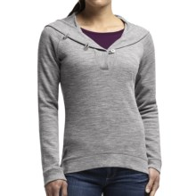 Icebreaker Crave Hooded Shirt - Merino Wool, UPF 20+, Long Sleeve (For Women) in Metro Heather - Closeouts