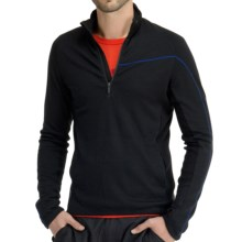 Icebreaker Crosscut 320 Shirt - Merino Wool, Neck Zip, Long Sleeve (For Men) in Black - Closeouts