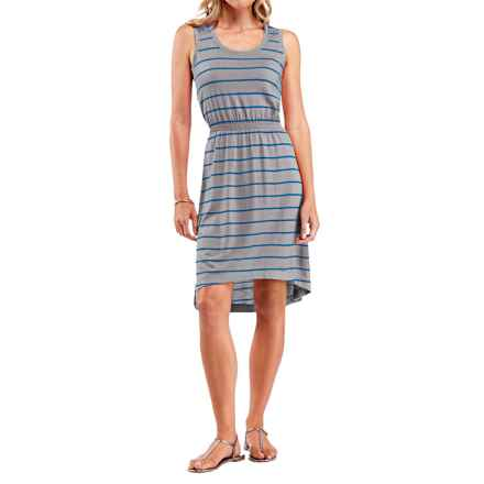 Icebreaker Crush 200 Stripe Dress - UPF 30+, Merino Wool, Sleeveless (For Women) in Metro Heather/Cruise - Closeouts