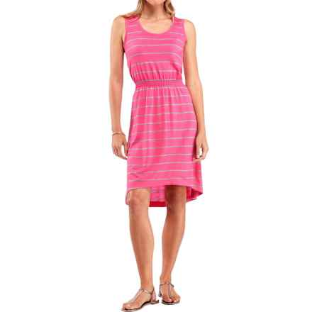 Icebreaker Crush 200 Stripe Dress - UPF 30+, Merino Wool, Sleeveless (For Women) in Shocking/Metro Heather - Closeouts