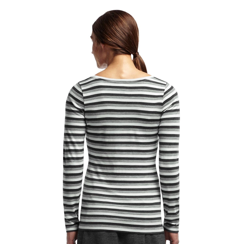 Icebreaker crush stripe shirt for women 8677a save 71 for Merino wool shirt long sleeve